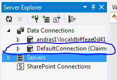 Default connection database