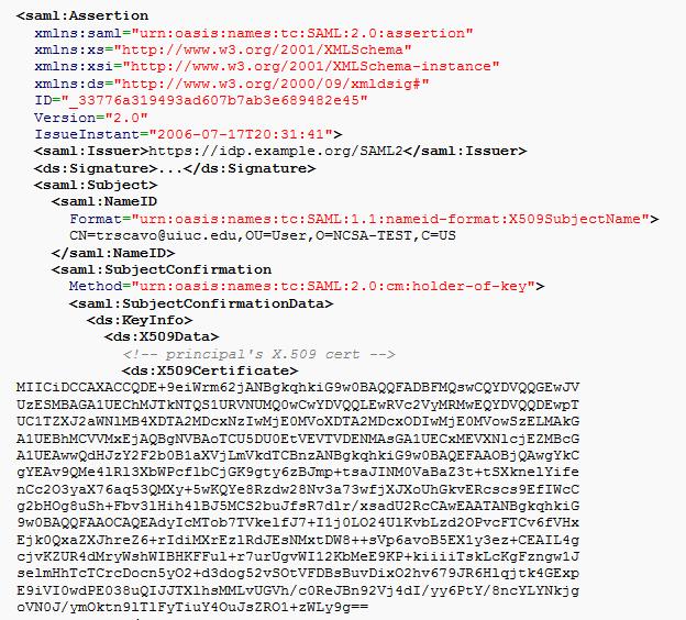 SAML example