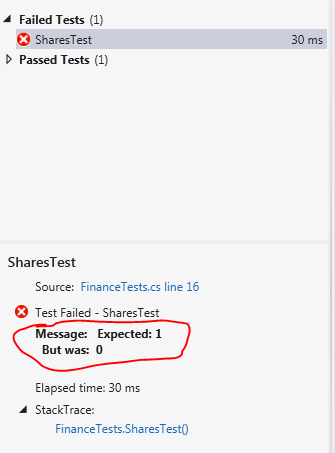 Shares test still fails