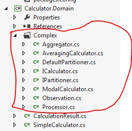 Complex calculator File structure