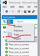 Group By category in Test Explorer