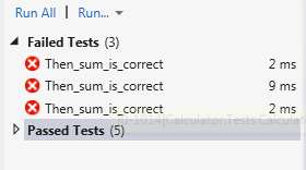 Test fixture with many tests