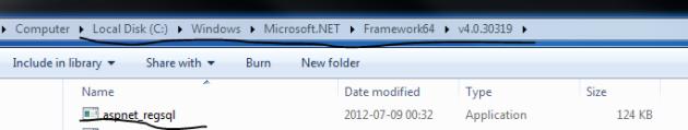 ASP net reg sql tool location