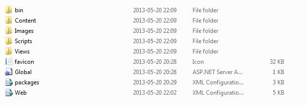 Deployment package in folder