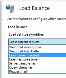 Load balance algorithm options ARR
