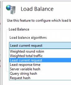 Load balance algorithm options ARR