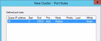 NLB port rules
