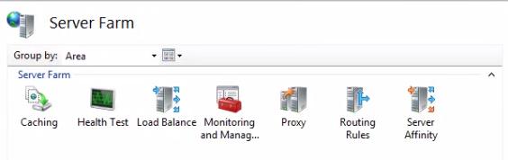 Server farm setup options in IIS