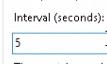 Set interval of scheduled health checks
