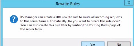 Ask if URL rewrite rules should be added