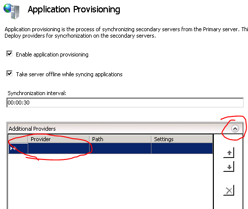 Application provisioning options