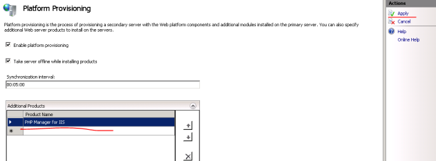 Apply platform provisioning