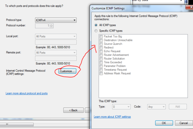 Customise ICMP packets