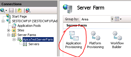Open application provisioning
