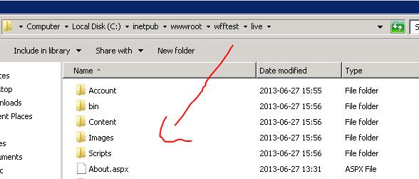Package deployed to correct folder