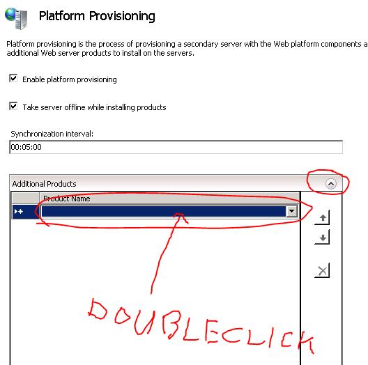Platform provisioning window
