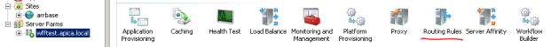 Routing rules icon in IIS