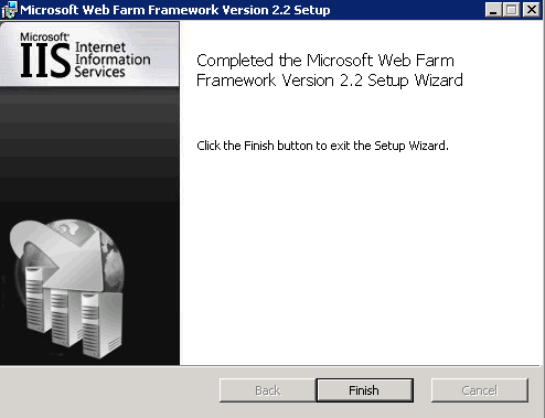 Successful installation of WFF 2.2