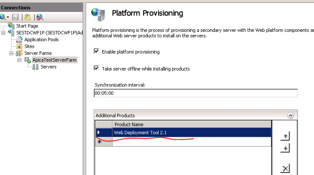 Web deployment tool with provisioning