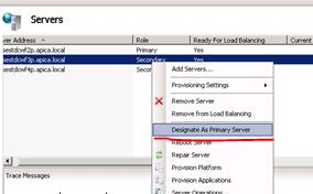 Designate a secondary server as the primary one