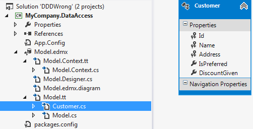 Entity Framework model context