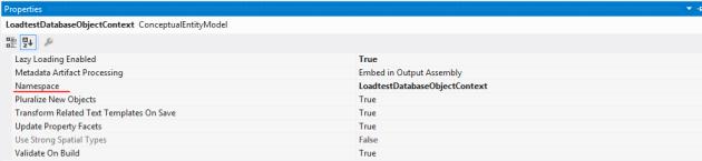 Change namespace in entity framework