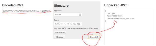 Jwt decoder page