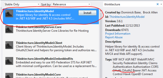 Thinktecture library in NuGet