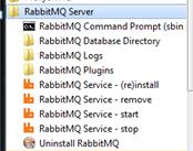 RabbitMQ in startup menu