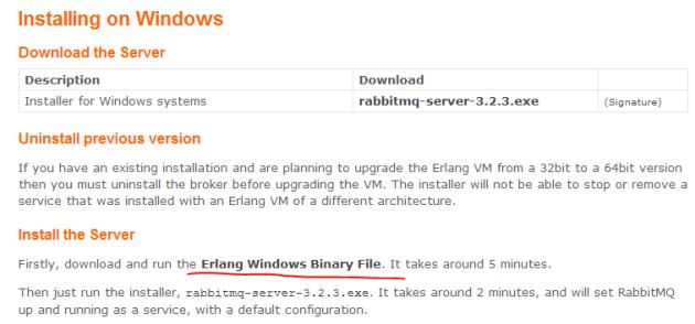 Server installation link