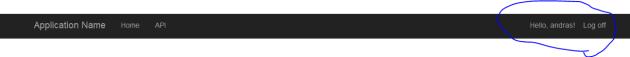 Single page login Web API