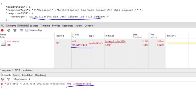 Unauthorised Web API