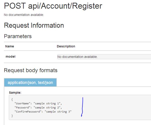 User registration inputs