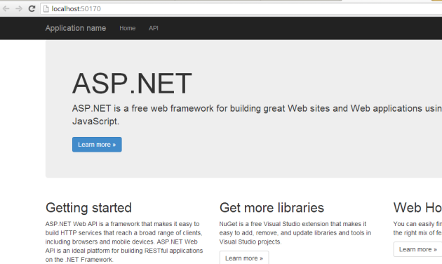 Web API 2 default homepage