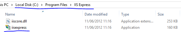 IISexpress.exe location