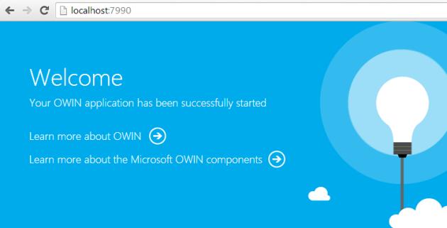 Owin default homepage