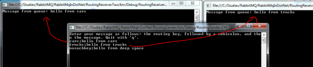 Routing MEP with RabbitMQ