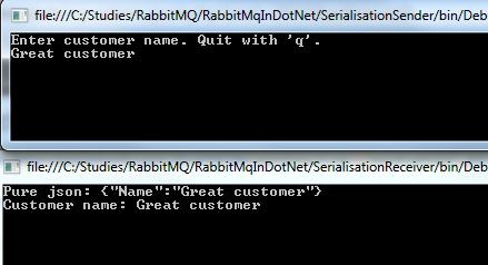 RabbitMQ in  NET: data serialisation I | Exercises in  NET