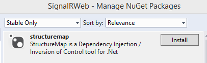 StructureMap NuGet package