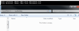 File deletion monitored by filesystemwatcher