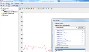 Performance Monitor window