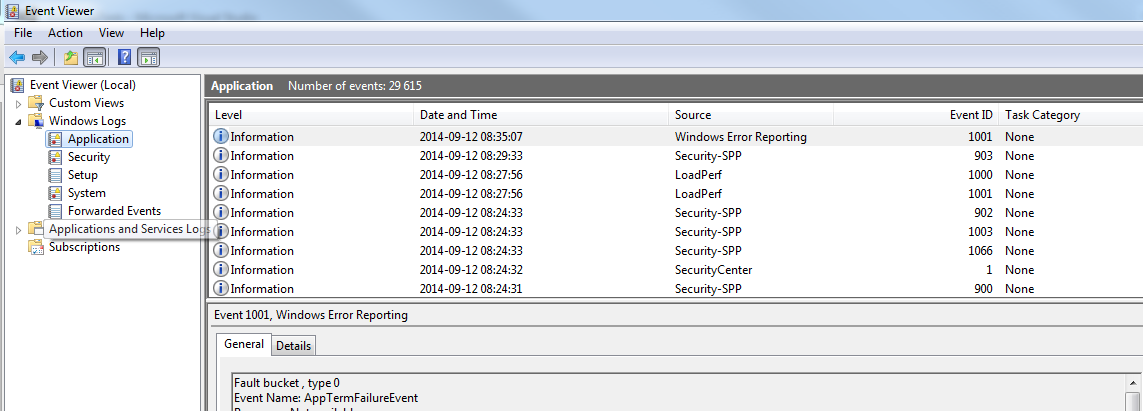 can i delete windows event logs