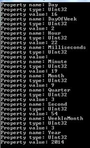 WMI class property name reader