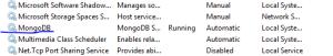 MongoDb running as a service
