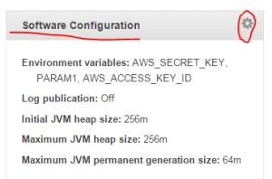 Software configuration link in Beanstalk