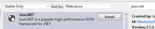 Json.NET NuGet package