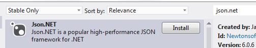 Json.NET NuGet package