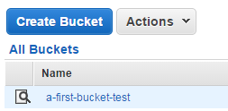 Created first bucket in Amazon S3