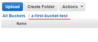 First bucket is empty in Amazon S3