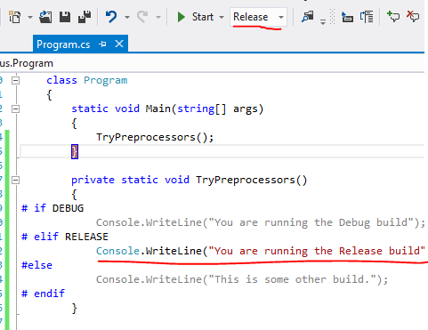 RELEASE section highlighted in code